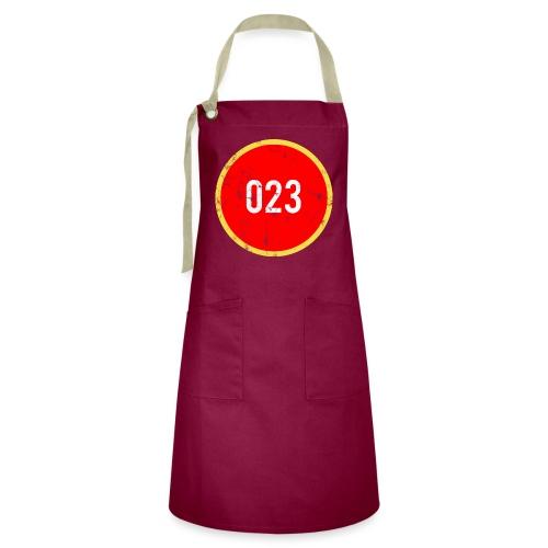 023 logo 2 washed regio Haarlem - Contrasterende schort