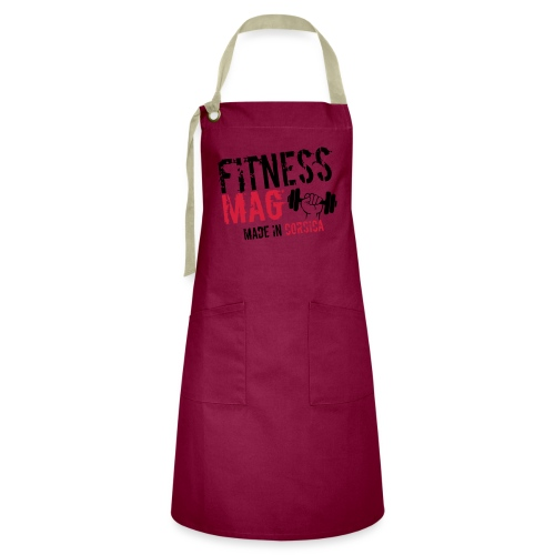Fitness Mag made in corsica 100% Polyester - Tablier contrasté