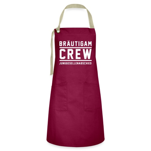 Bräutigam Crew Junggesellenabschied - Kontrastschürze