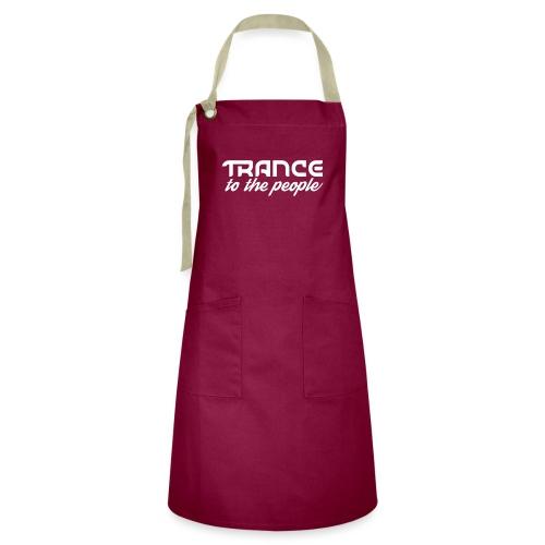 Trance to the People Hvidt Logo - Kontrastforklæde
