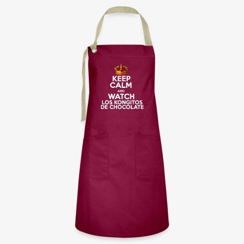 KEEP CALM AND WATCH LOS KONGITOS DE CHOCOLATE - Delantal Artesanal