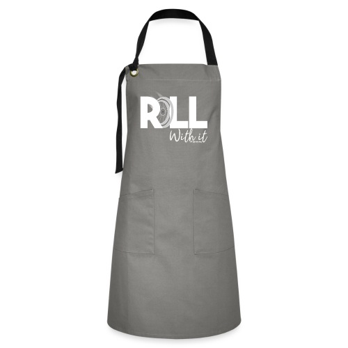 Amy's 'Roll with it' design (white text) - Artisan Apron