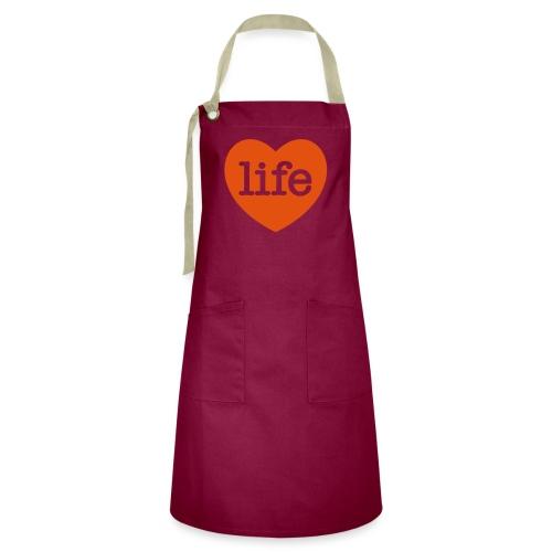 LOVE LIFE heart - Artisan Apron