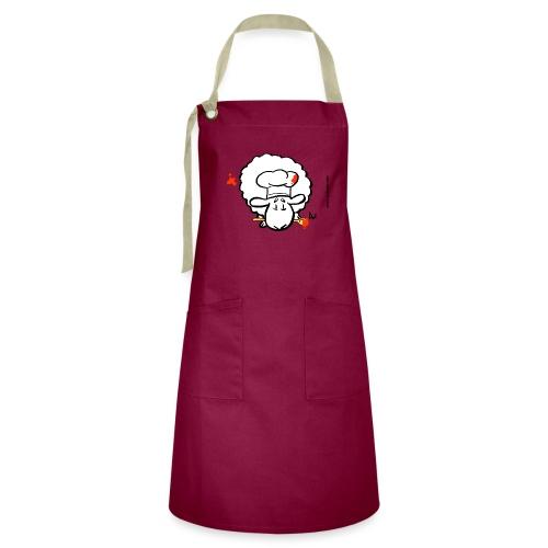 Owca szefa kuchni - Fartuch z kontrastowymi paskami