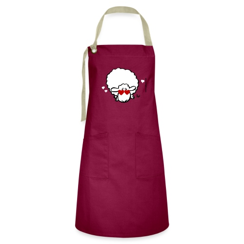 Eye Love Ewe (red edition) - Artisan Apron
