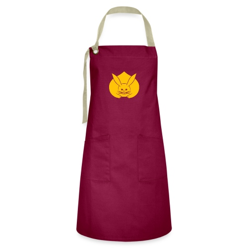 Usagi kamon japanese rabbit yellow - Artisan Apron