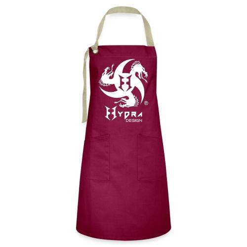 Hydra DESIGN - logo white - Grembiule artista