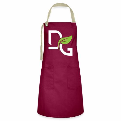DrGreen Logo Symbol weiss grün - Kontrastschürze