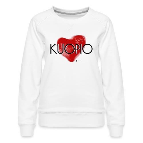 Love Kuopio teksti keskellä - Naisten premium-collegepaita