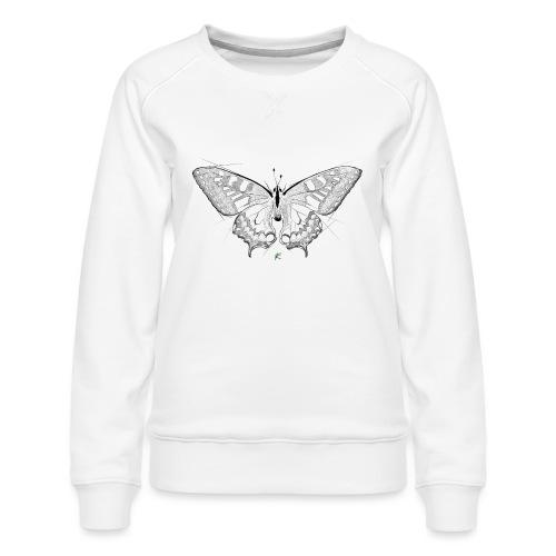 Butterfly - Felpa premium da donna