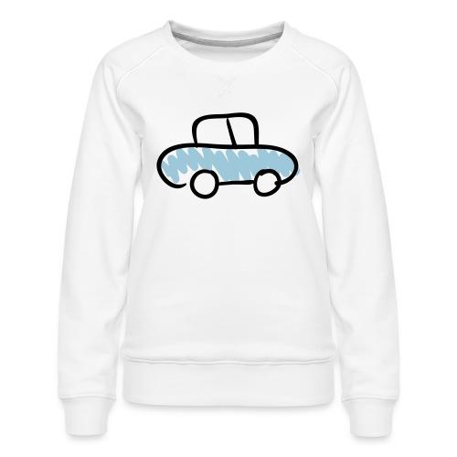 Car Line Drawing Pixellamb - Frauen Premium Pullover
