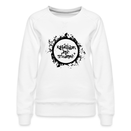 Rebellion der Träumer Logo schwarz - Frauen Premium Pullover