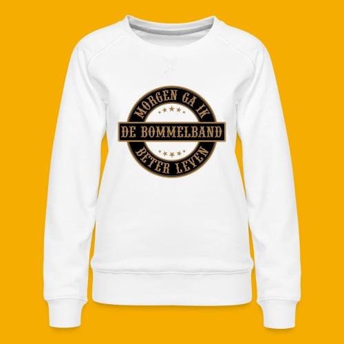 bb logo rond shirt - Vrouwen premium sweater