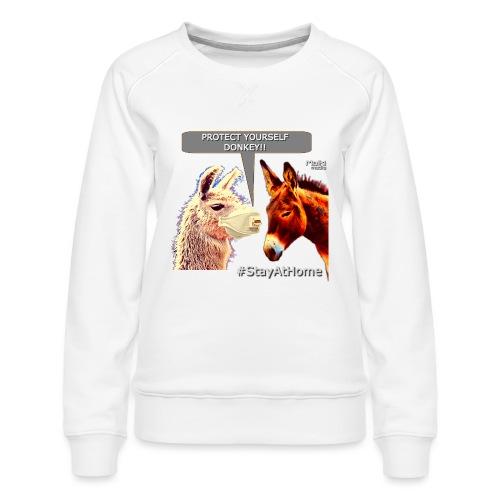 Protect Yourself Donkey - Coronavirus - Women's Premium Sweatshirt