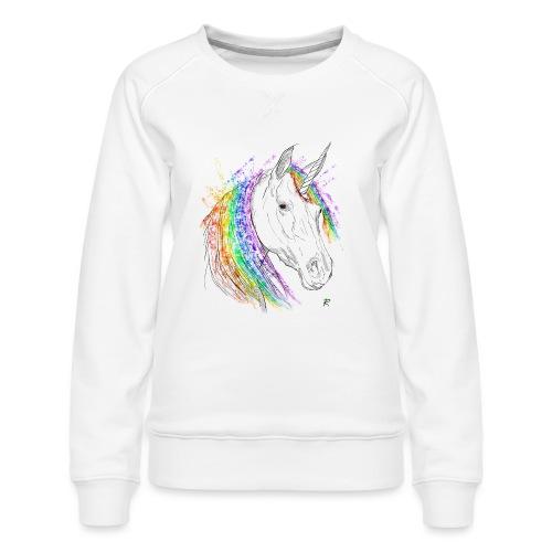 Unicorno - Felpa premium da donna
