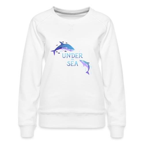 Under the Sea - Shark and Dolphin - Women's Premium Sweatshirt