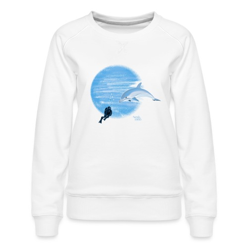 Dolphin and diver - Maillots - Sweat ras-du-cou Premium Femme