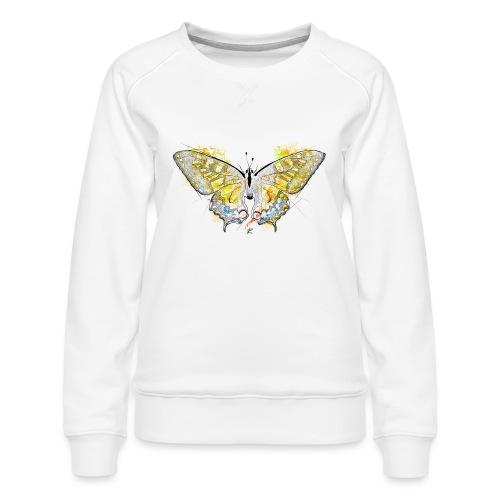 Butterfly color - Felpa premium da donna