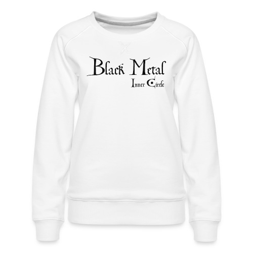black metal Inner Circle, black ink - Women's Premium Sweatshirt