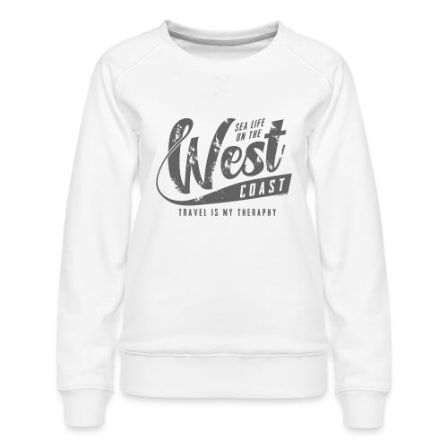 West Coast Sea Surfer Textiles, Gifts, Products - Naisten premium-collegepaita