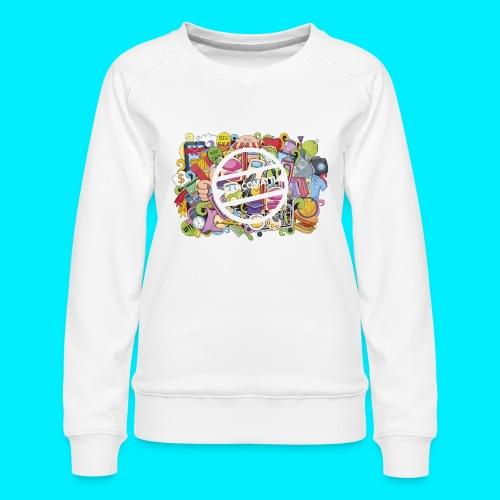 maglia logo doodle - Felpa premium da donna