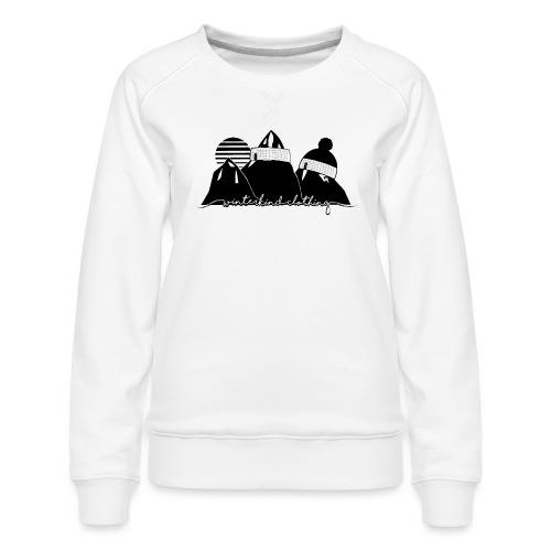 winterkind oldschool sticker - Frauen Premium Pullover