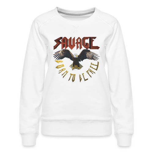 vintage eagle - Sudadera premium para mujer