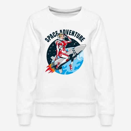 space adventure rocket girl - Frauen Premium Pullover