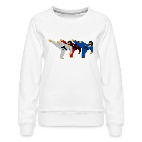 8 bit trip ninjas 2 - Women's Premium Sweatshirt