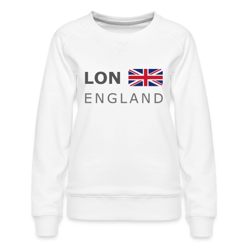 LON ENGLAND BF dark-lettered 400 dpi - Women's Premium Sweatshirt