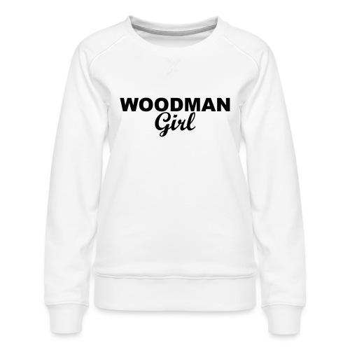 WOODMAN Girl, black - Frauen Premium Pullover