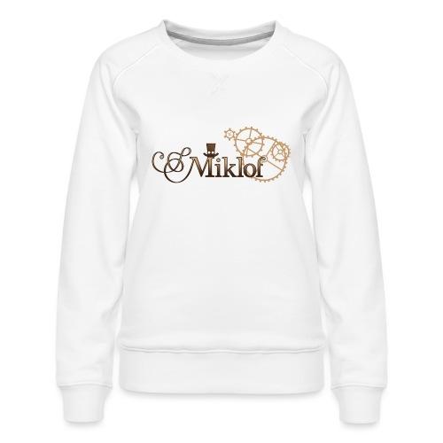miklof logo gold wood gradient 3000px - Women's Premium Sweatshirt