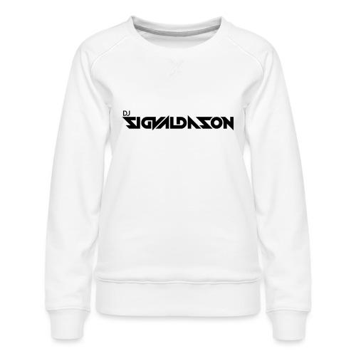 DJ logo sort - Dame premium sweatshirt