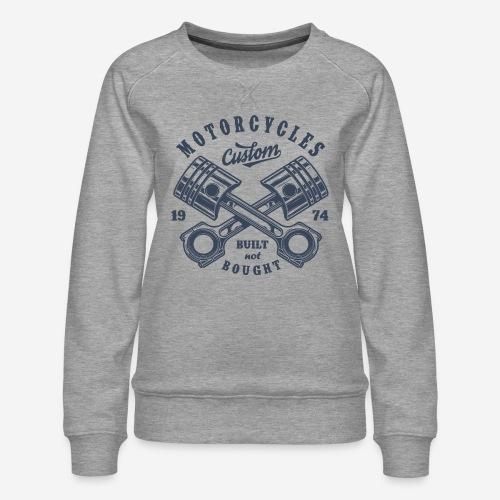 Motorrad benutzerdefinierte Vintage Biker - Frauen Premium Pullover