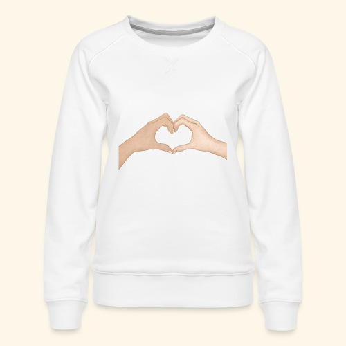 Mains Coeur Amour - Love hands - Sweat ras-du-cou Premium Femme