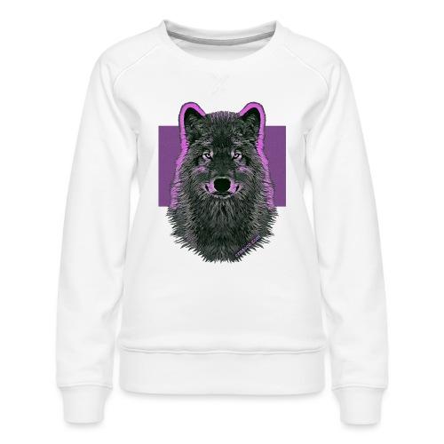 WOLF PINK IN LOVE - Frauen Premium Pullover
