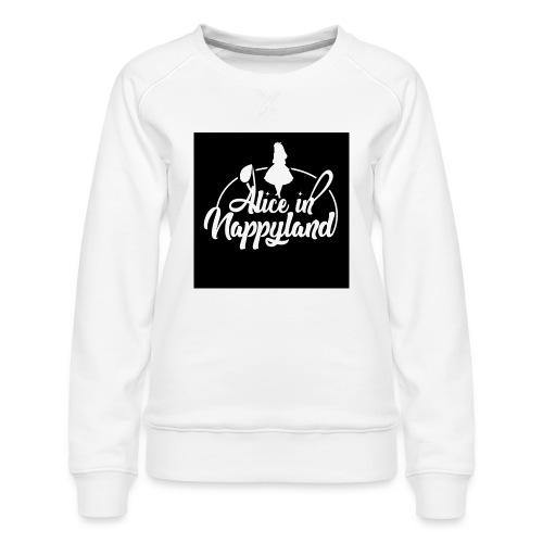 Alice in Nappyland TypographyWhite 1080 - Women's Premium Sweatshirt