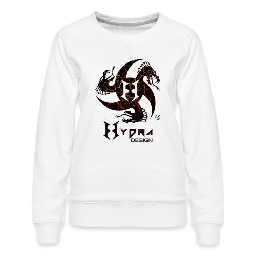 Hydra Design - logo Cracked lava - Felpa premium da donna
