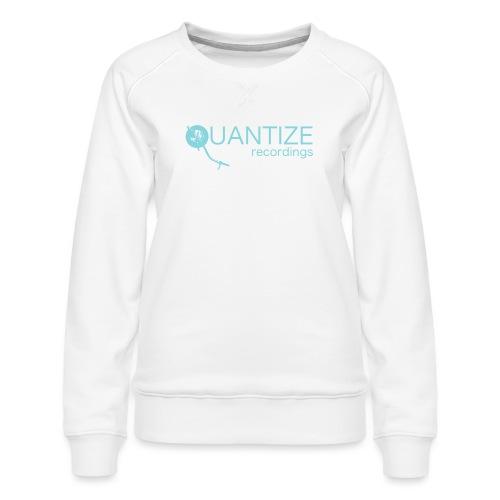 Quantize Blue Logo - Women's Premium Sweatshirt