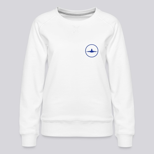 IVAO (symbole bleu) - Sweat ras-du-cou Premium Femme
