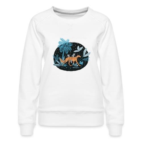Saluki im Tropenwald - Frauen Premium Pullover