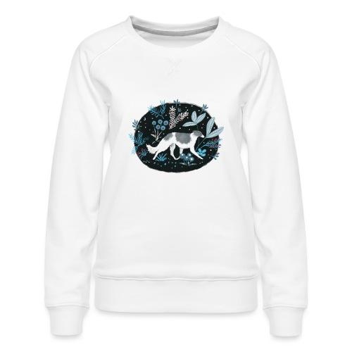 Barsoi im Mitternachtswald - Frauen Premium Pullover
