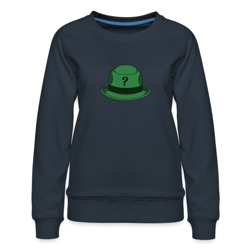 Grüner Rätsel Hut Riddler - Frauen Premium Pullover