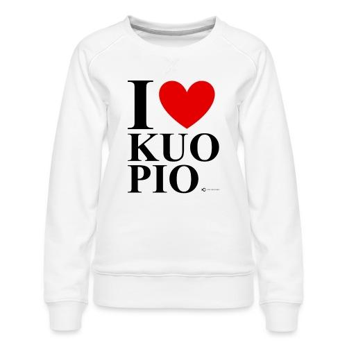 I LOVE KUOPIO ORIGINAL (musta) - Naisten premium-collegepaita