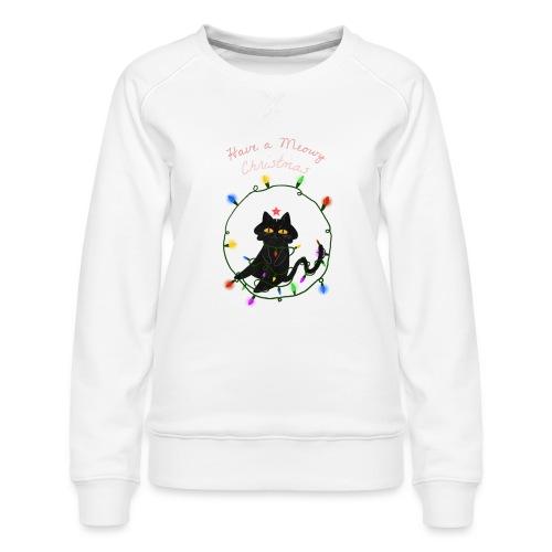 julegenser til katteelsker - Premium-genser for kvinner