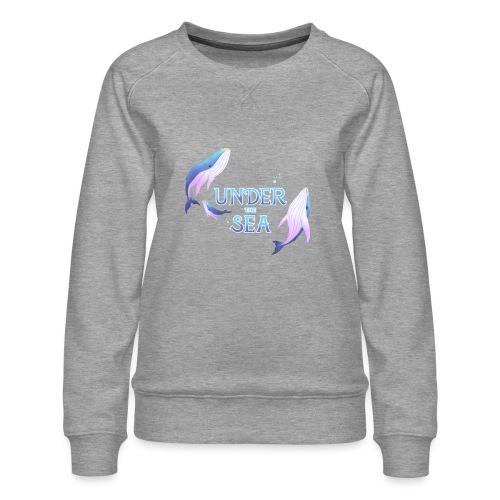 Under the Sea - Les Baleines - Women's Premium Sweatshirt
