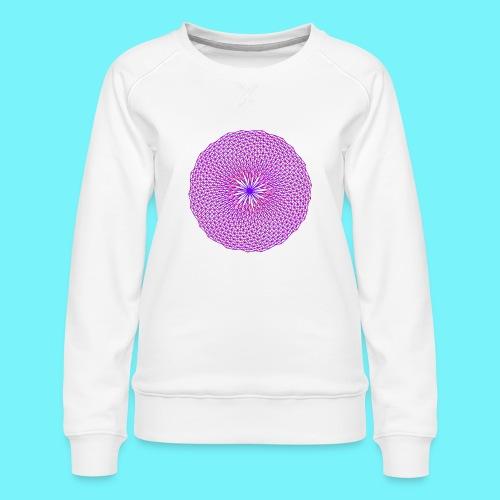 Fibonacci image with 4 fibonacci spirals - Women's Premium Sweatshirt