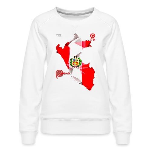 Mapa del Peru, Bandera y Escarapela - Women's Premium Sweatshirt