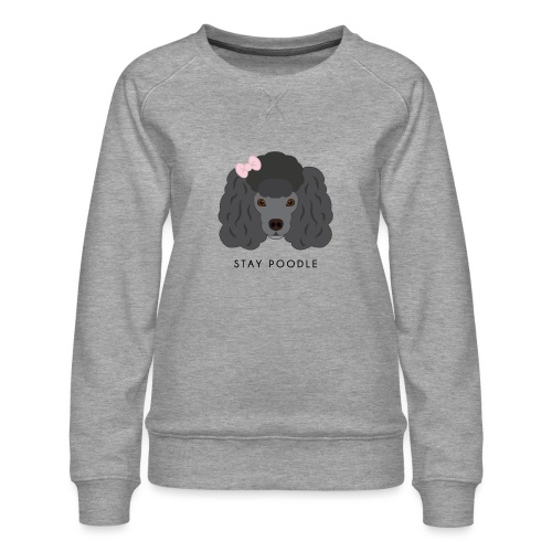 Poodle Black - Felpa premium da donna