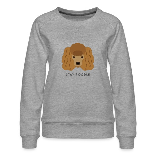 Poodle Brown - Felpa premium da donna